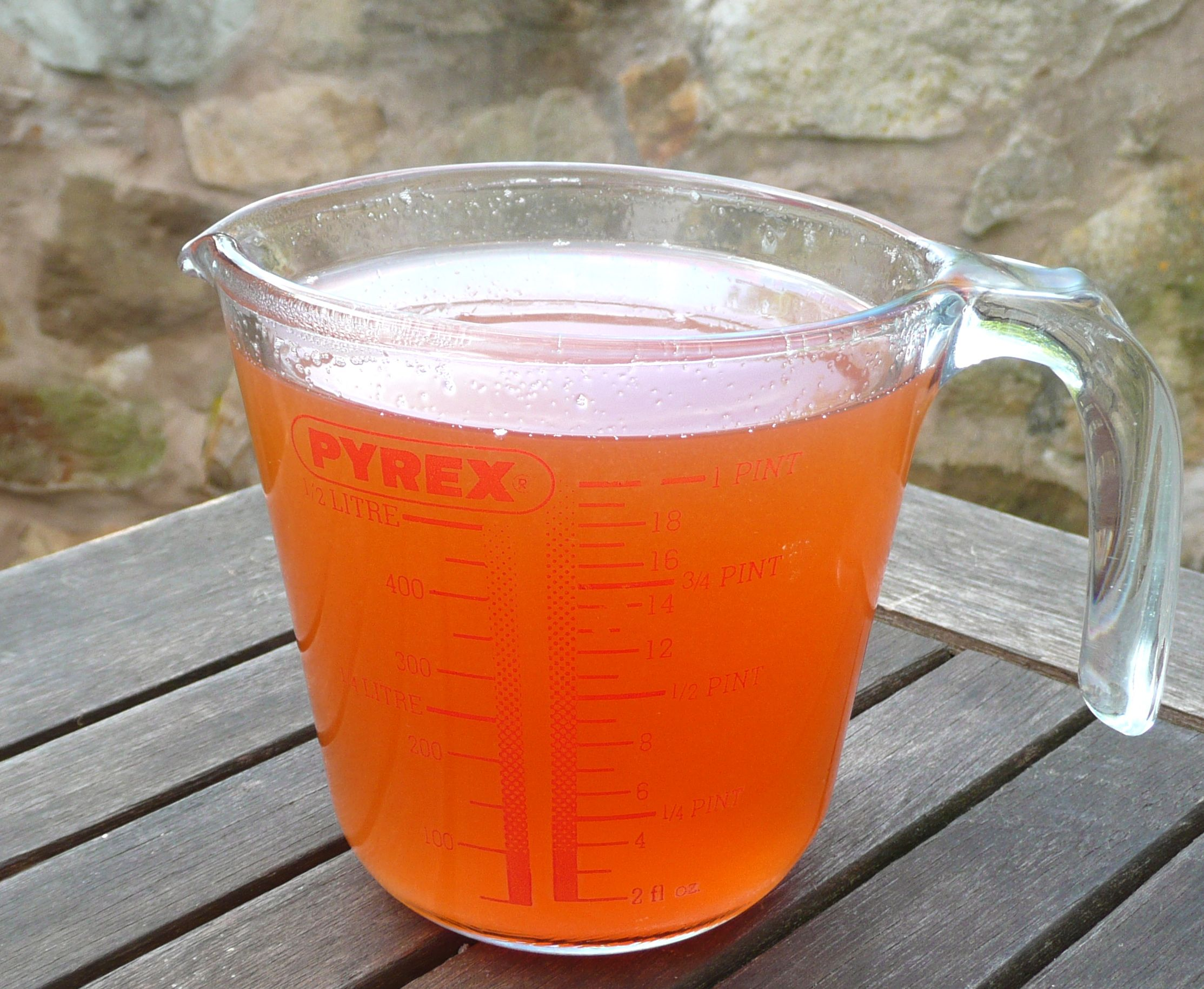 strained quince juice