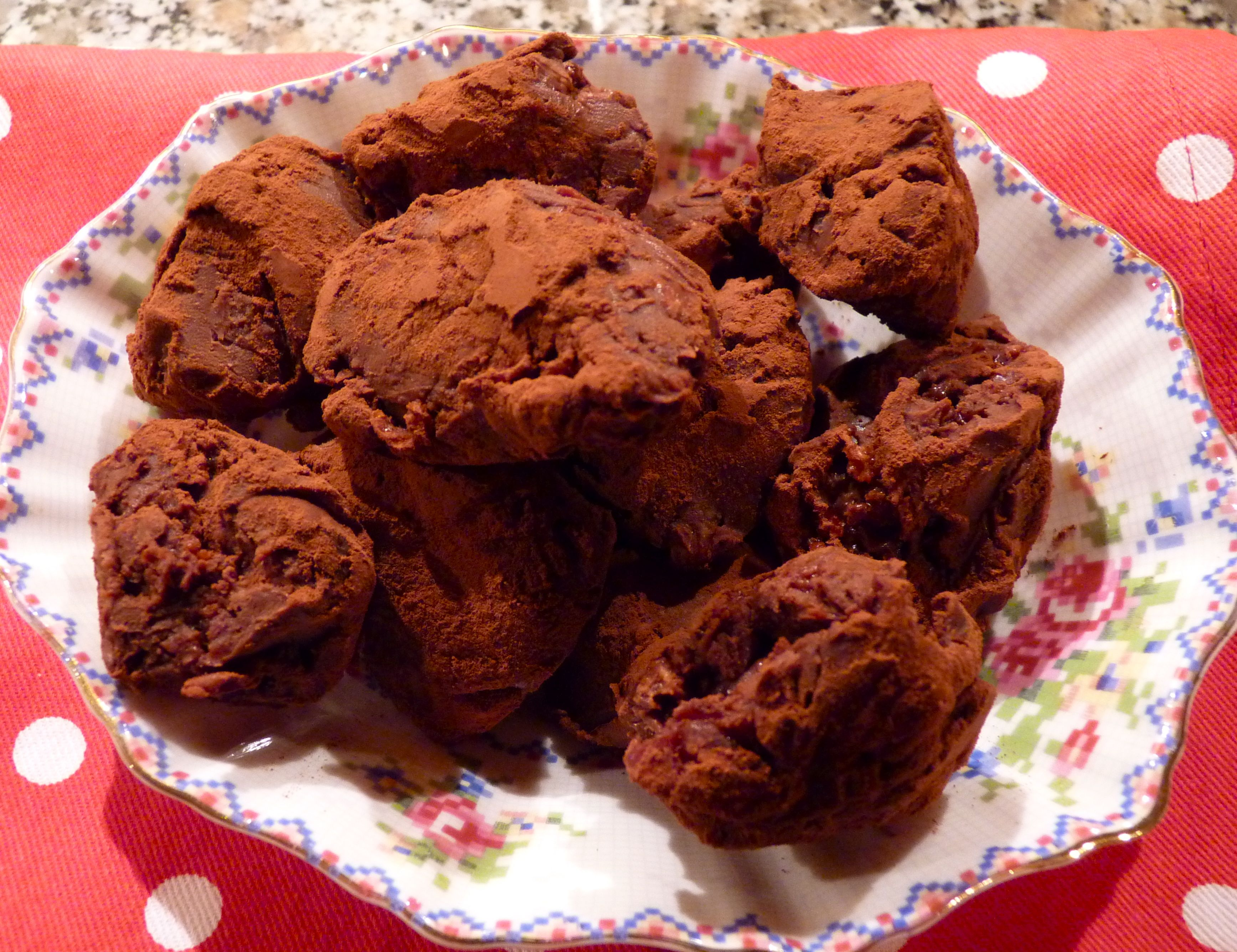 cherry chocolate truffles