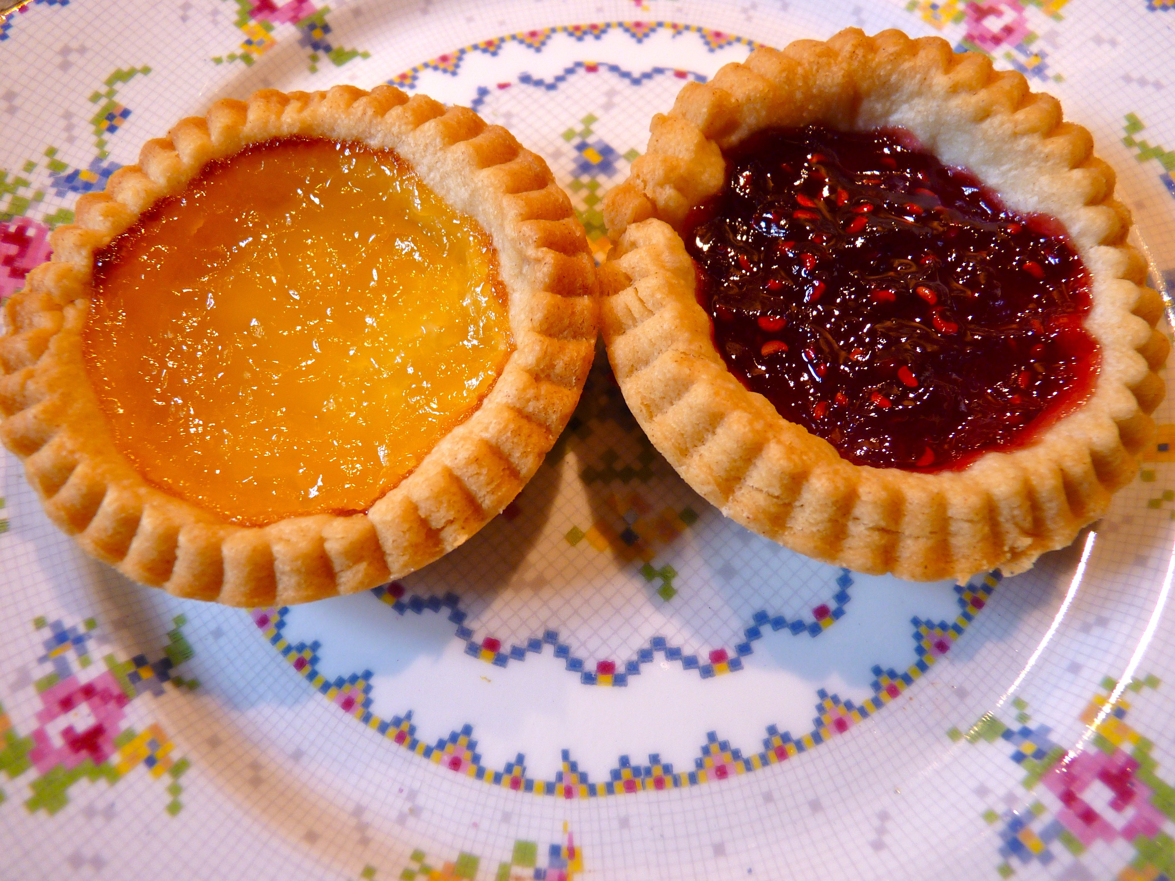 jam and lemon curd tarts