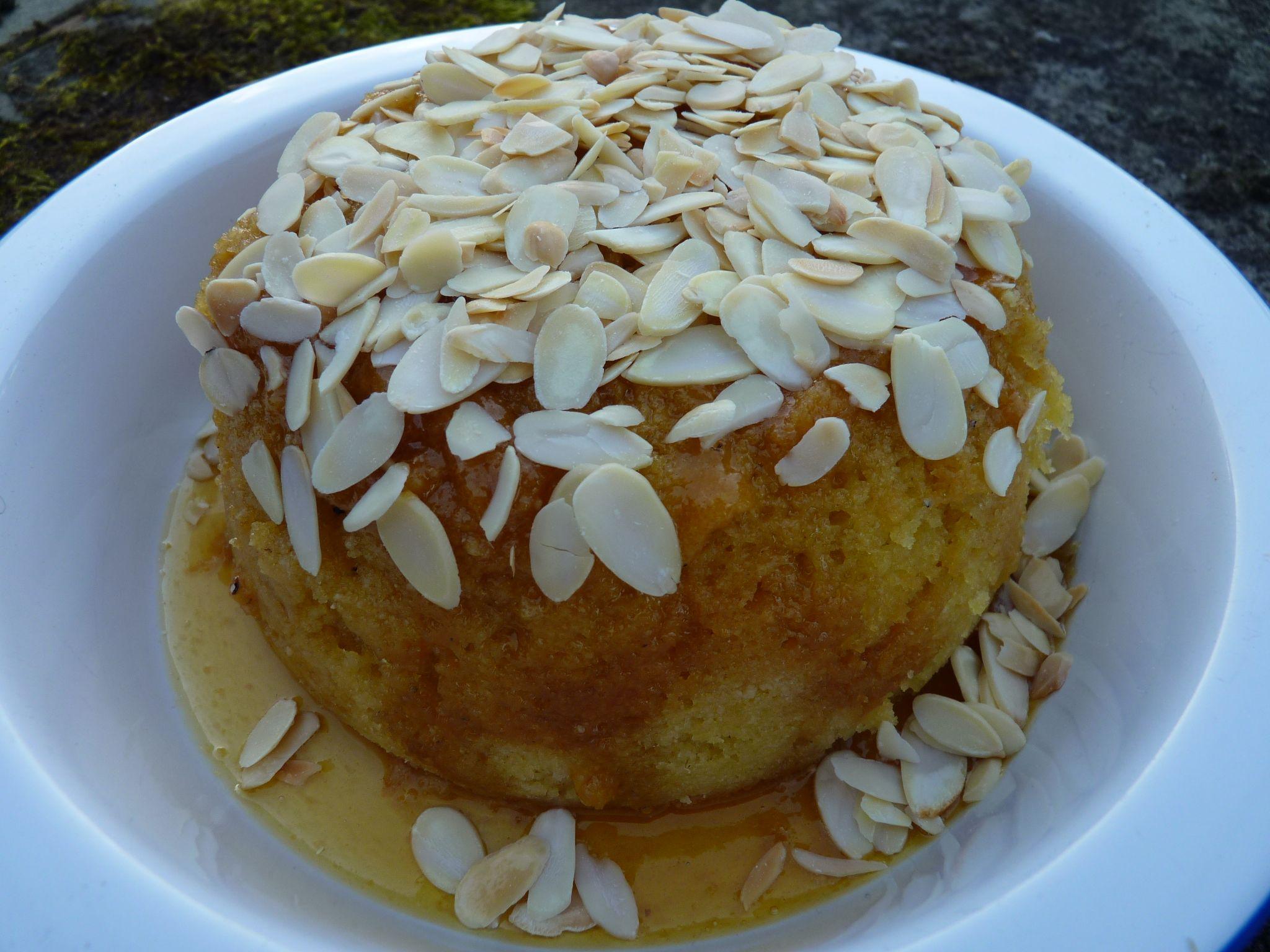 Berry-Almond Crisp With Cardamom Custard Recipe — Dishmaps
