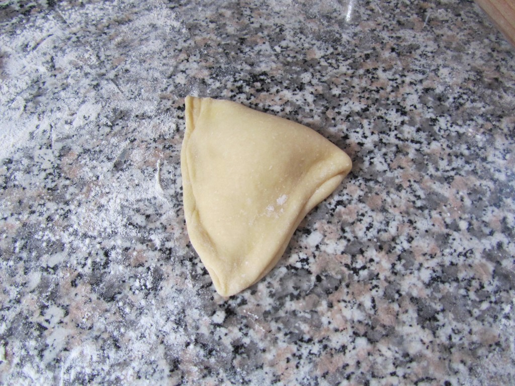 Butter bun fold, stage 3