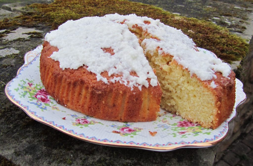 Cardamom and coconut cake
