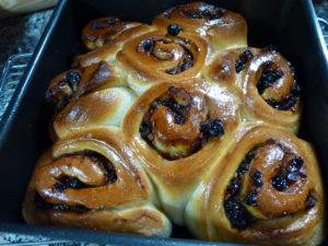 Baked mincemeat swirls